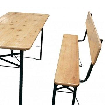 Bierzeltgarnitur 3 teilige Sitzgruppe