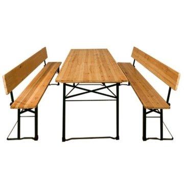 Bierzeltgarnitur mit Rückenlehne und Tisch 180x70cm - Festzeltgarnitur Sitzgruppe Sitzgarnitur -